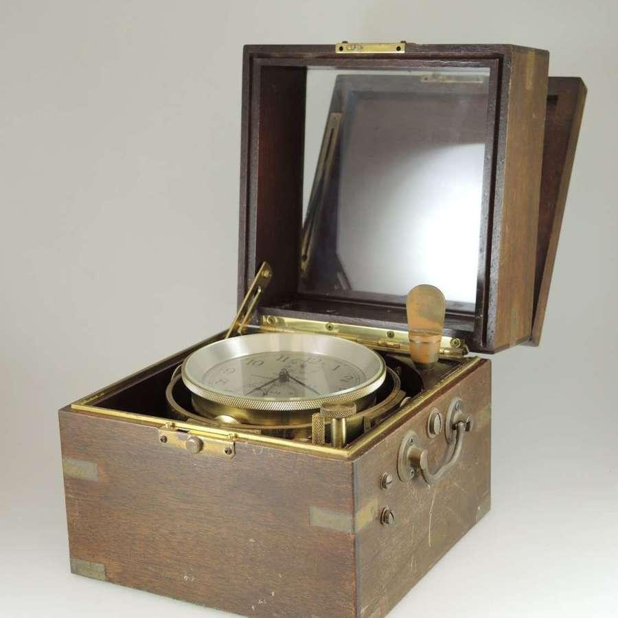 85s Hamilton Chronometer M#21 fusee detent escapement gimball box 1941