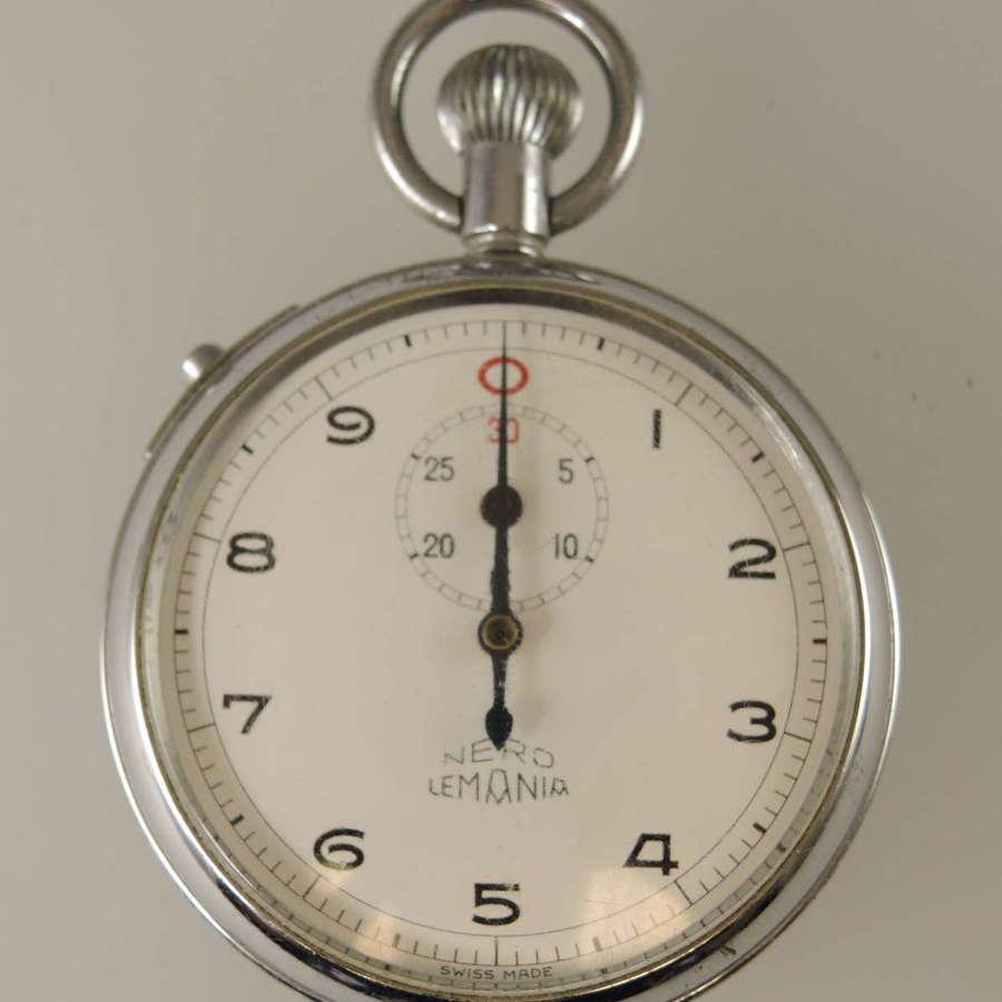 Rare Lemania British Rail Stop Watch c1930