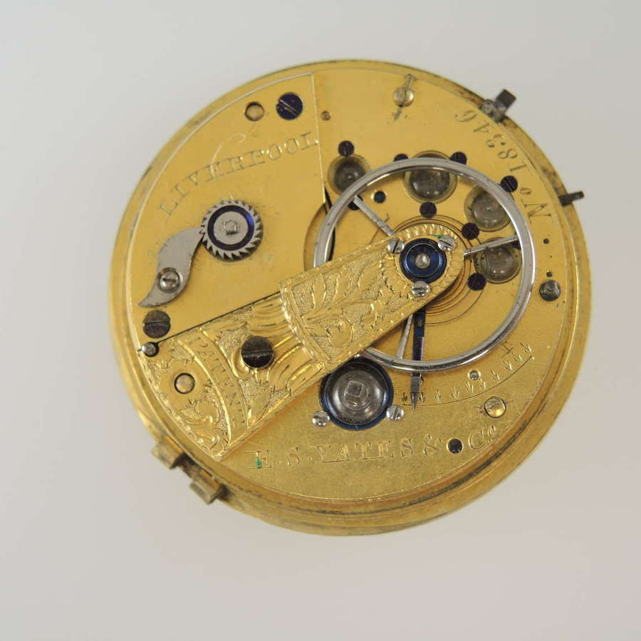 English Massey III fusee by movement by E Yates c1845