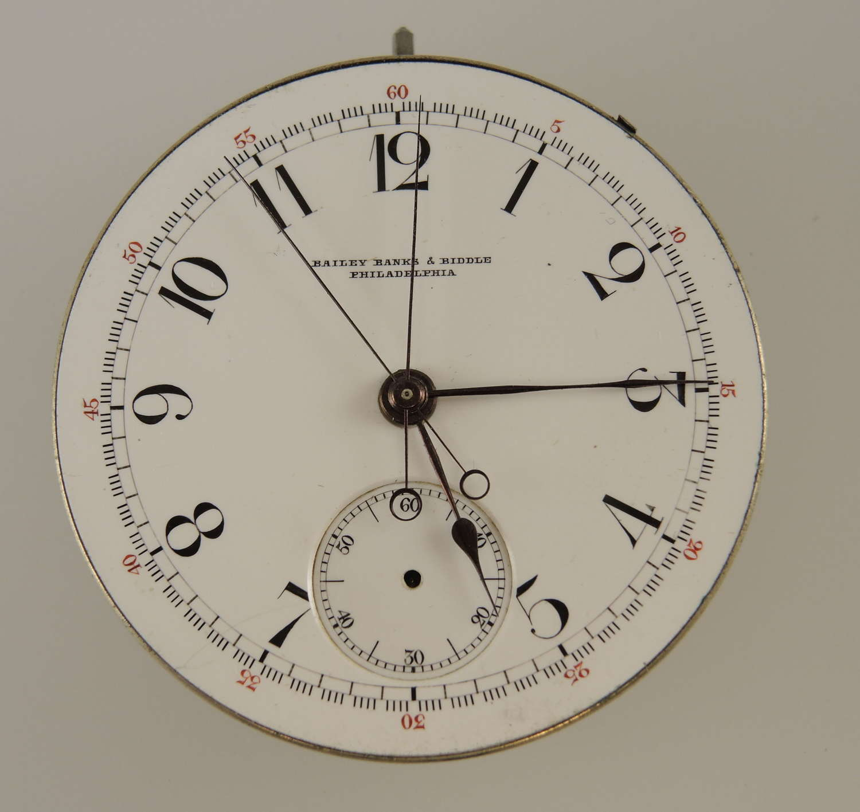 RARE Split seconds chronograph pocket watch Movement c1880
