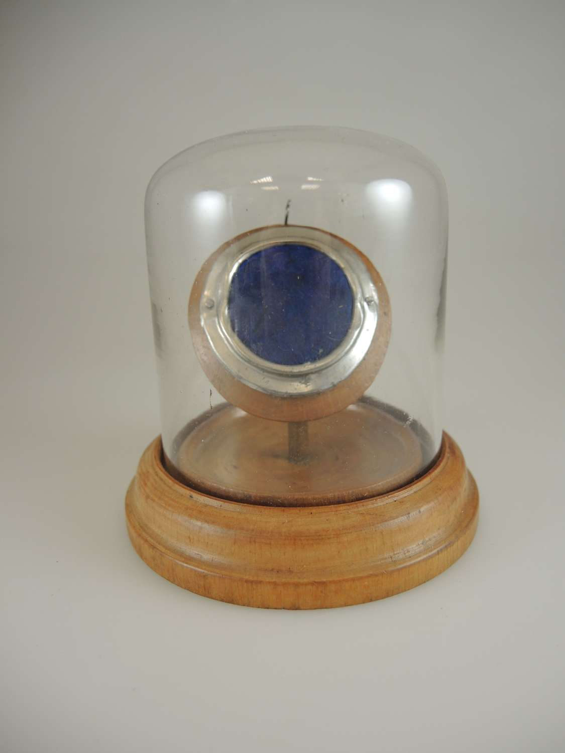 Wooden and glass domed watch stand c1890