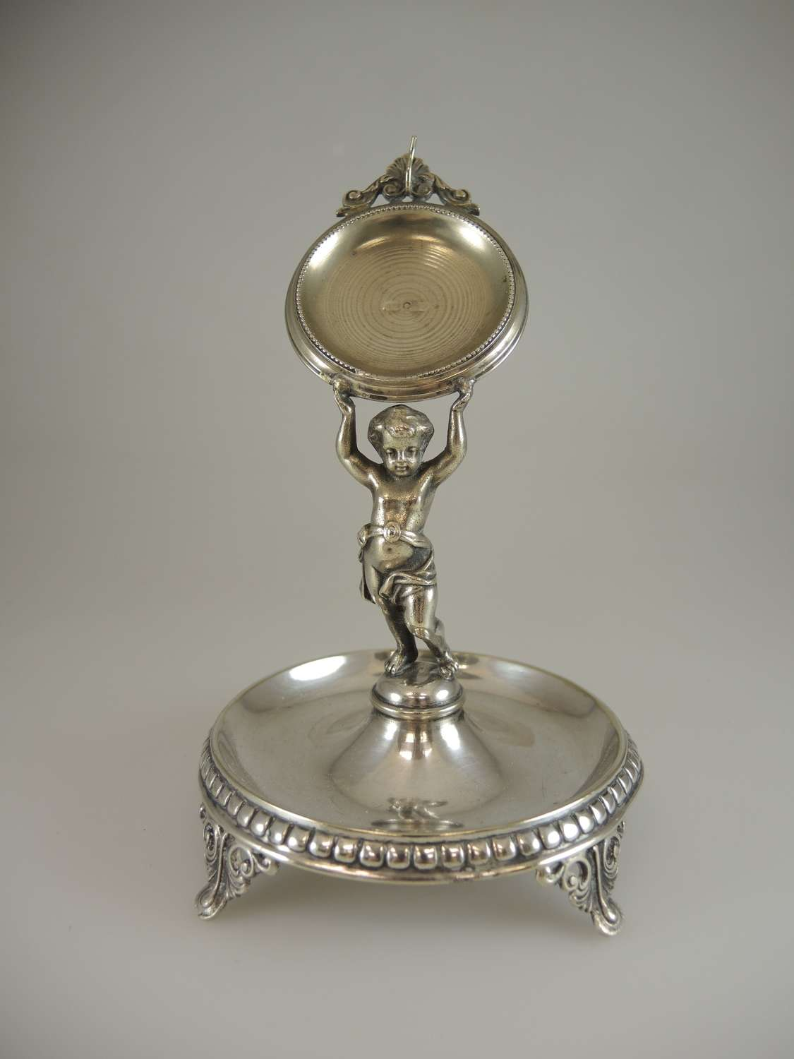 Swedish silver plated PUTTO Watch stand c1890