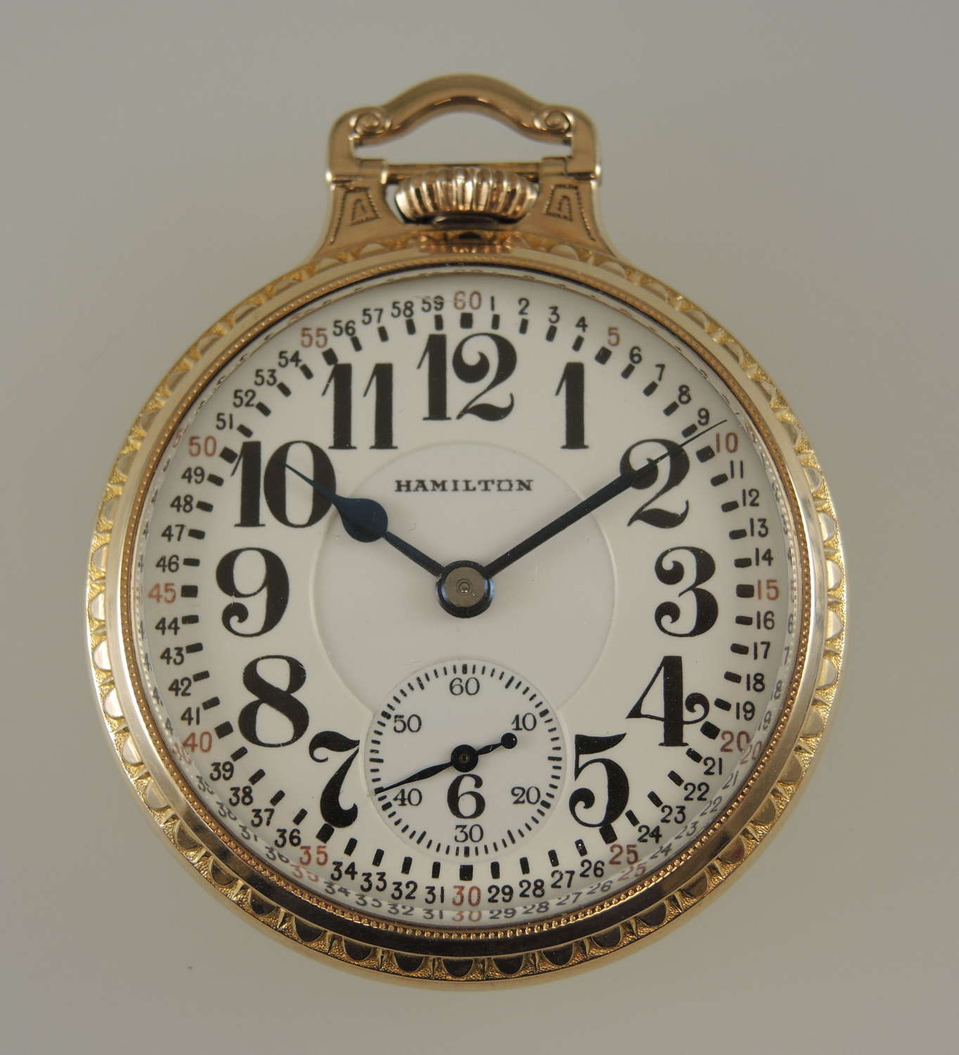 Pristine 16s 23J Hamilton 950 pocket watch c1934