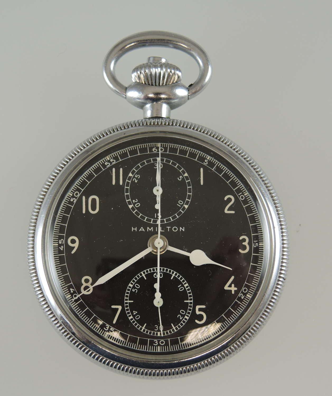 Hamilton Model 23 Military chronograph pocket watch c1942