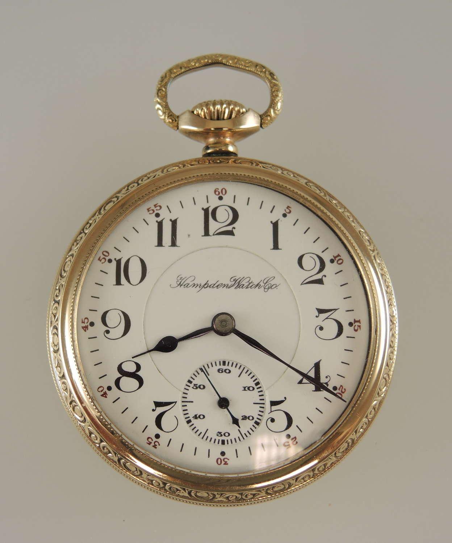 Superb 16s 23J Hampden Grade 104 pocket watch c1914