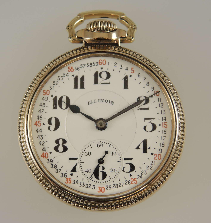 Rare 16s 21J Illinois Bunn Special 60 Hour 161A Elinvar c1942