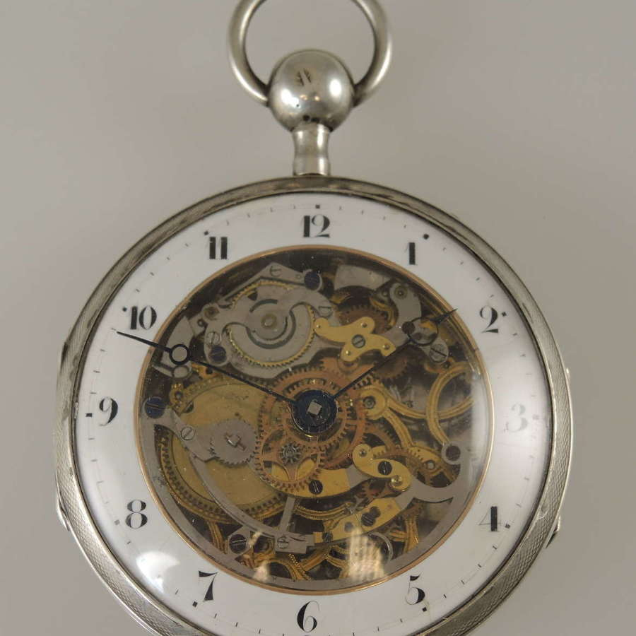Superb Skeletonized Repeater pocket watch c1820