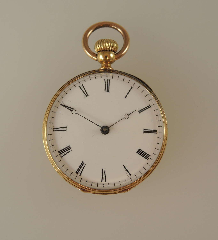 Ladies 18K Gold Patek Philippe pocket watch c1867