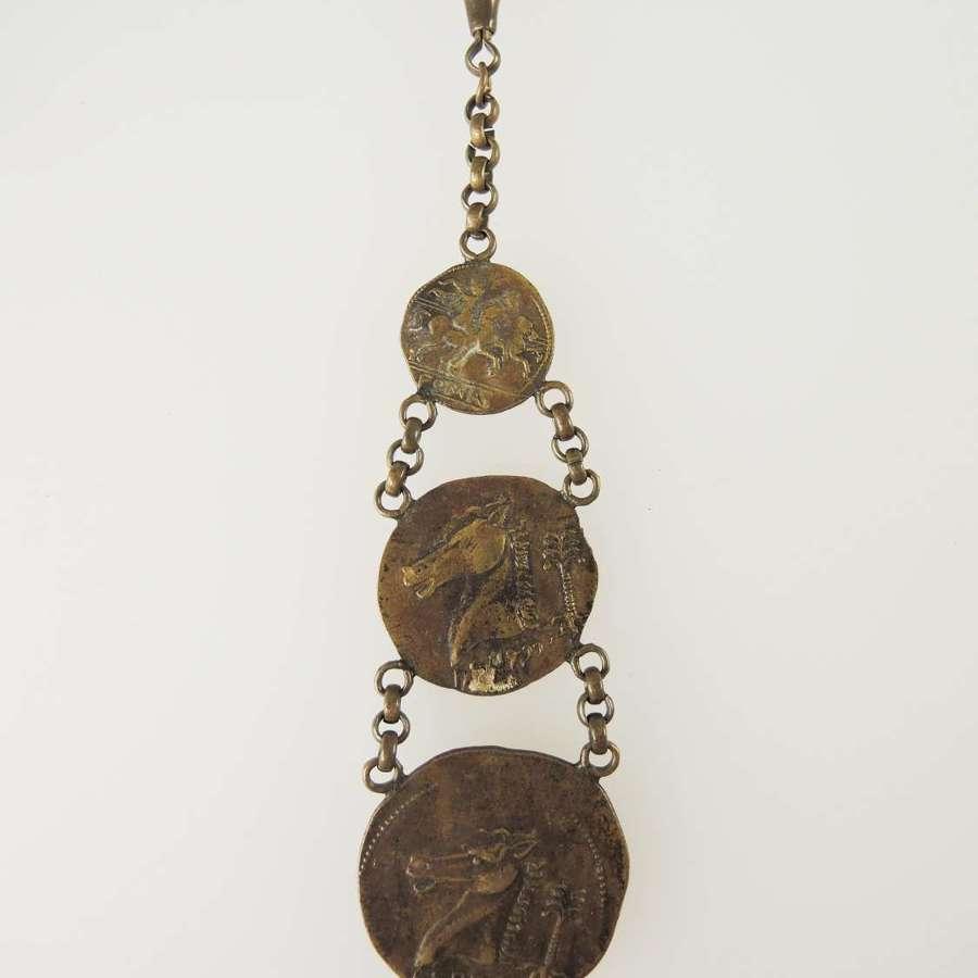 Unusual Souvenir Watch Chain / Chatelaine c1900