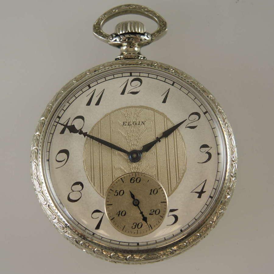 Art Deco Elgin pocket watch c1923