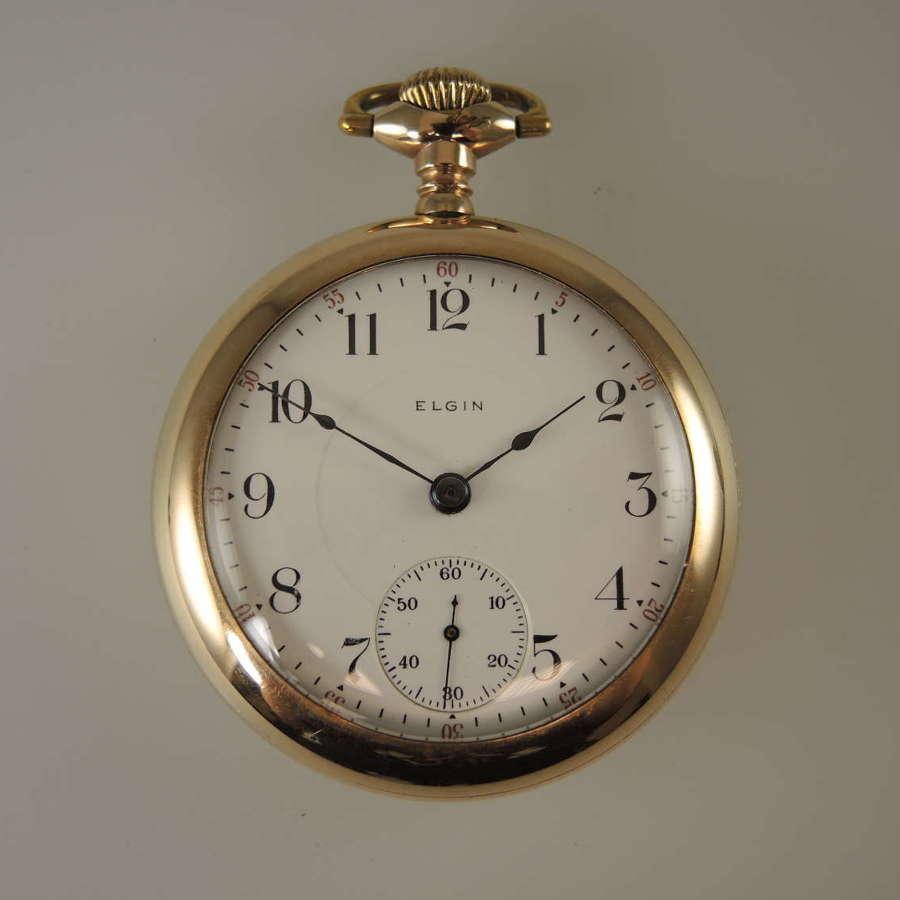 18s 17J Elgin Pocket Watch c1911
