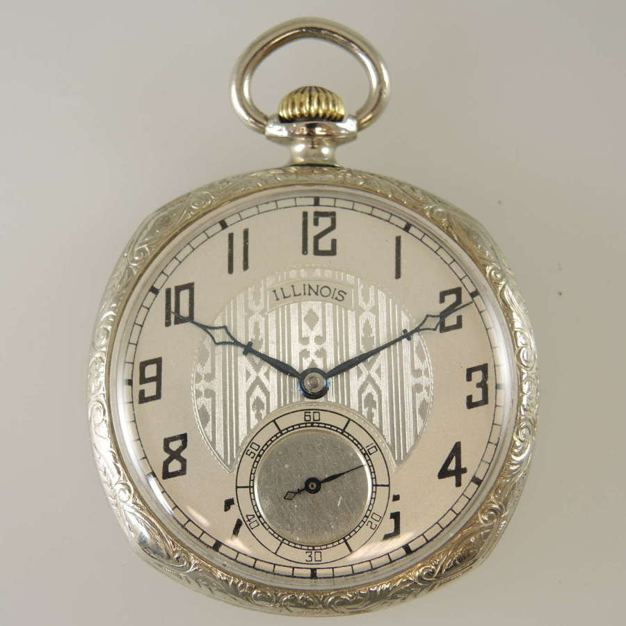 Unusual Square shaped Illinois Penn Special pocket watch c1925