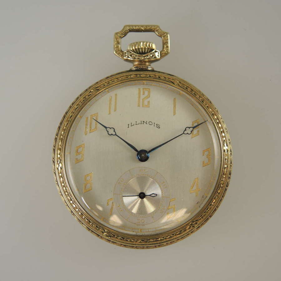 Art Deco Illinois Elite pocket watch c1923