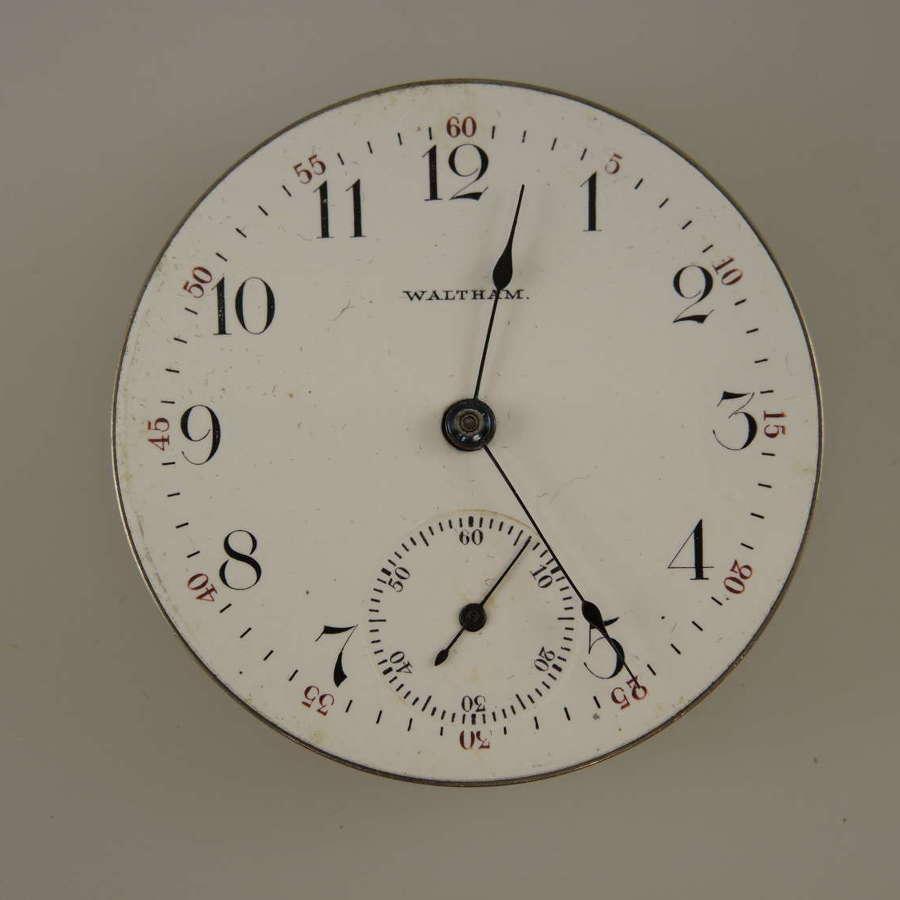 16 size 15 Jewel Waltham pocket watch movement c1899