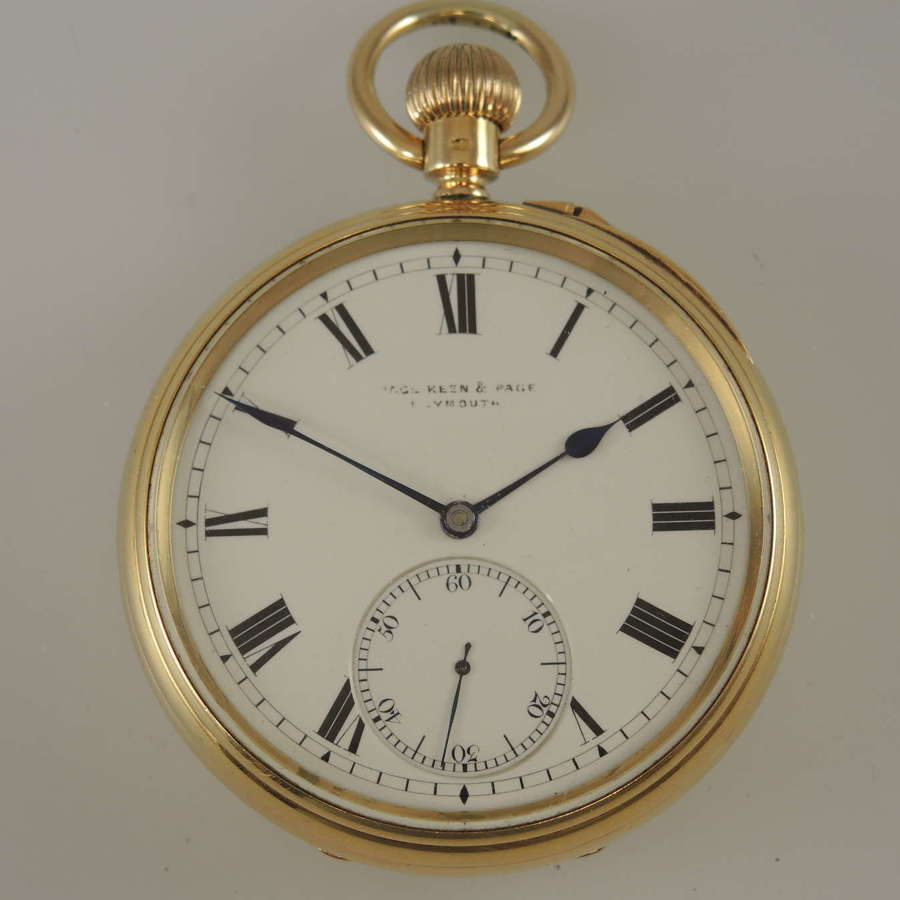 18K Gold Kew Observatory Grade Karrusel pocket watch London 1903