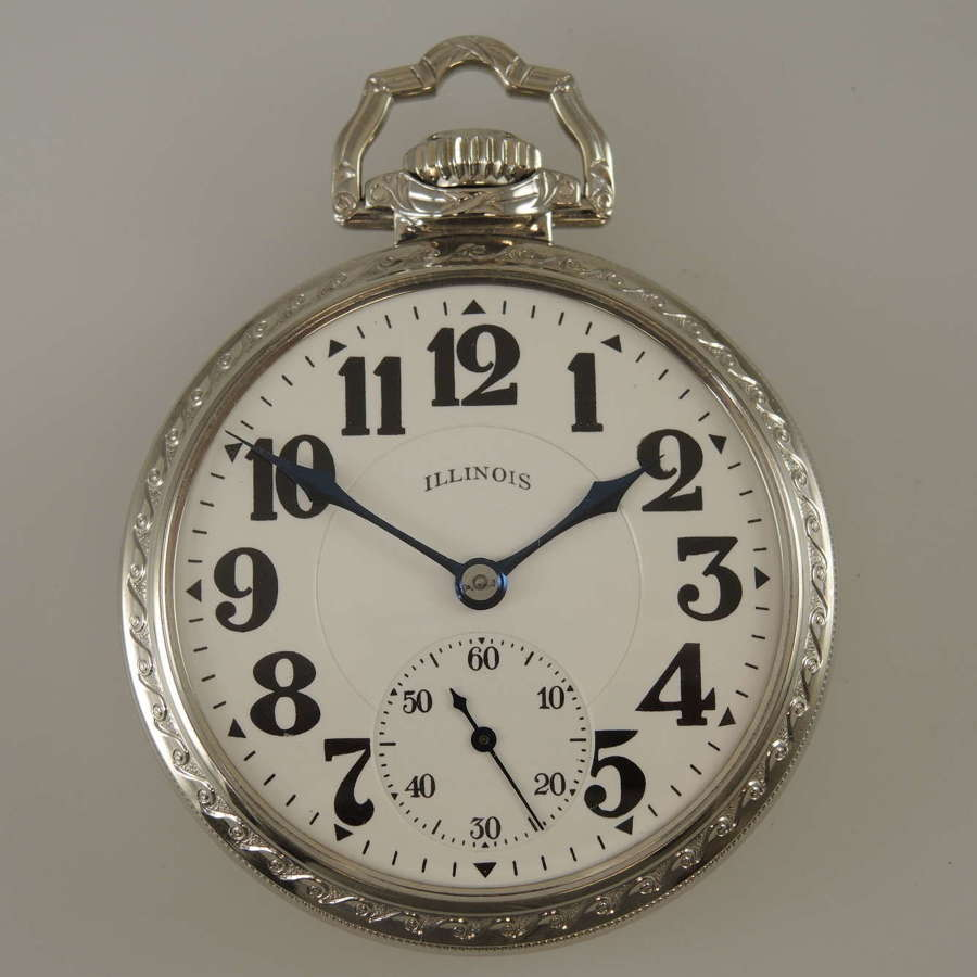 Pristine 17s 23J Sangamo Special unmarked 60 Hour pocket watch c1925