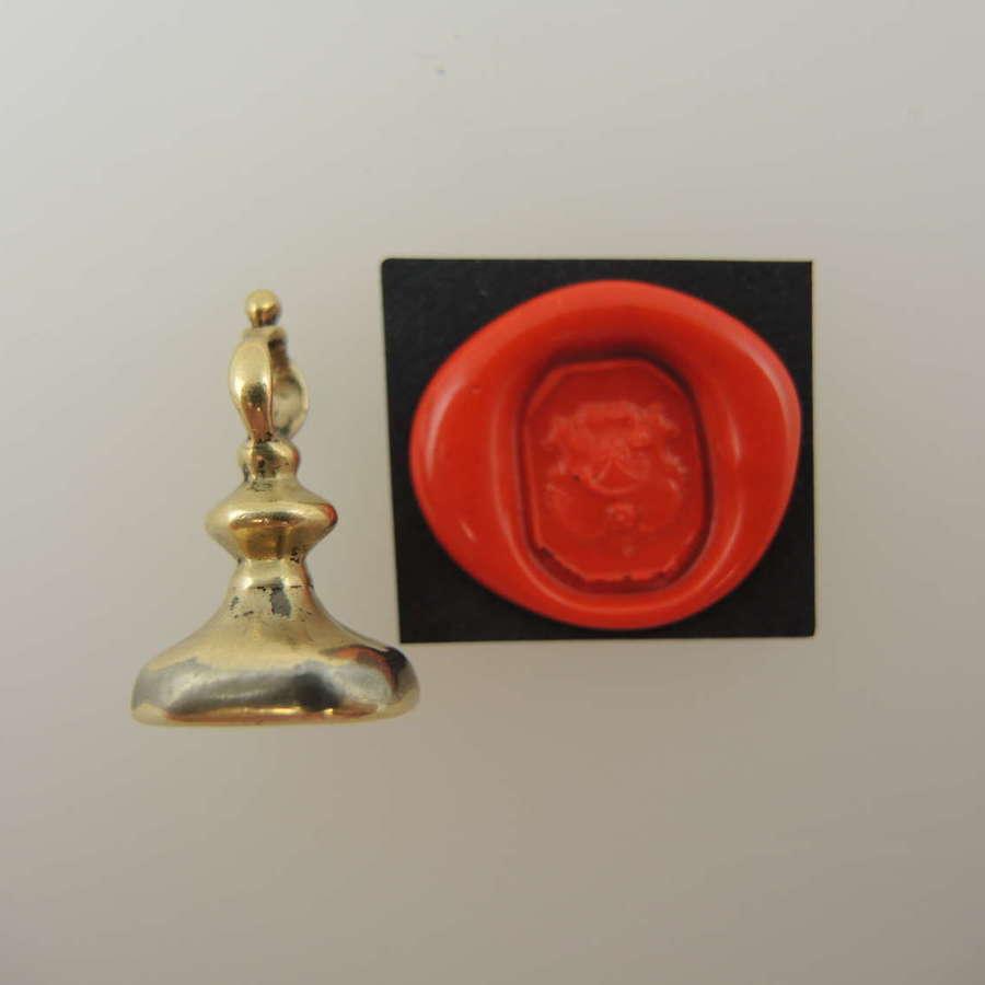 Early Georgian gold seal with intaglio c1790