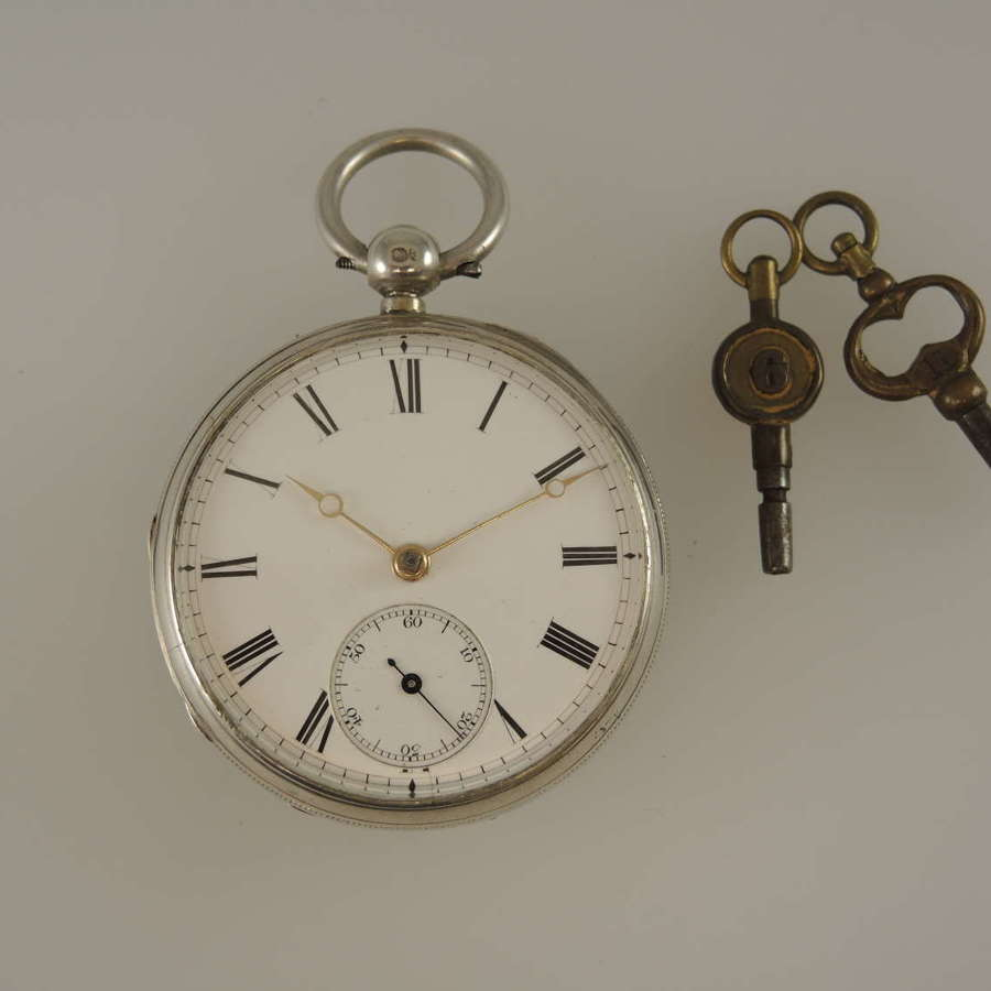 English silver Scottish Fusee pocket watch by A Barrie, Edinburgh 1883