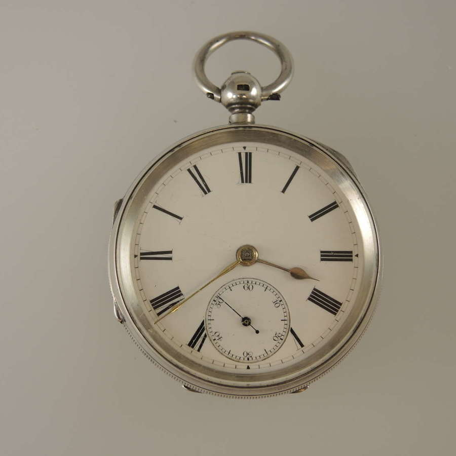 English silver Fusee pocket watch by Adams, West Bromwich c1889