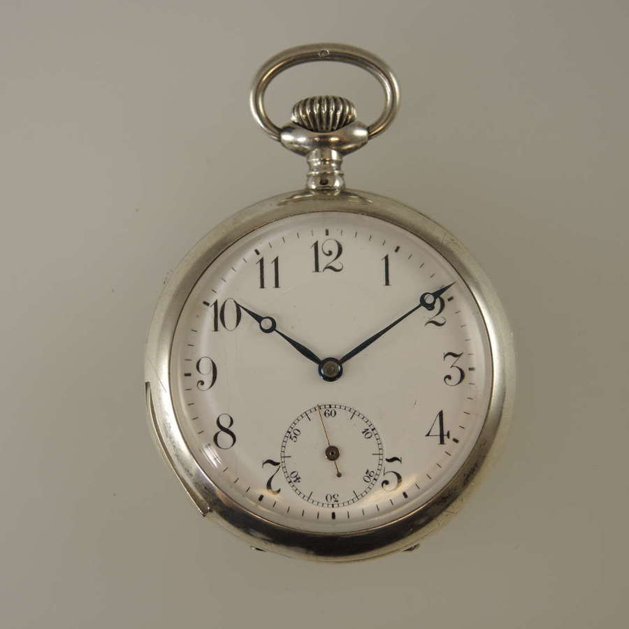 Silver quarter repeater pocket watch c1900