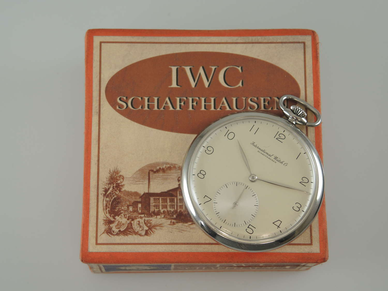 Steel cased IWC pocket watch Cal.97 c1945
