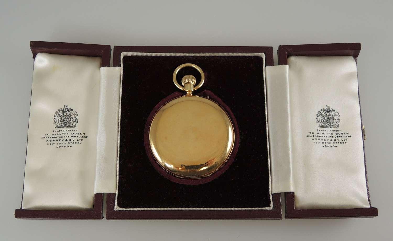 18K gold Hunter pocket watch by Barraud & Lund. Sold by Asprey c1877