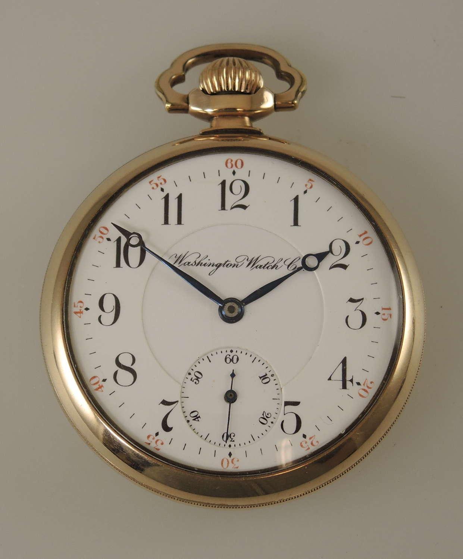 Rare 16s 23J Illinois Lafayette Washington Watch Co c1913