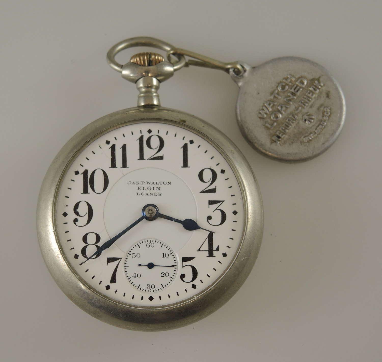 18S 21J Elgin Grade 349 LOANER pocket watch c1908