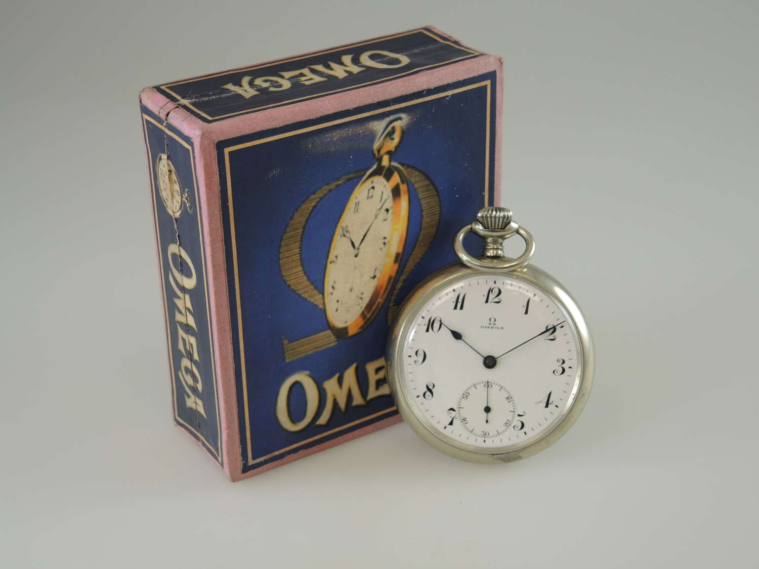 Vintage Omega pocket watch. With Box c1918