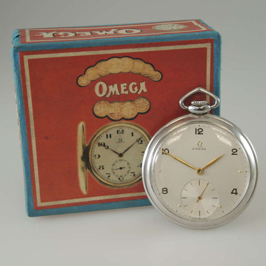 Vintage Omega pocket watch. With Box. c1956