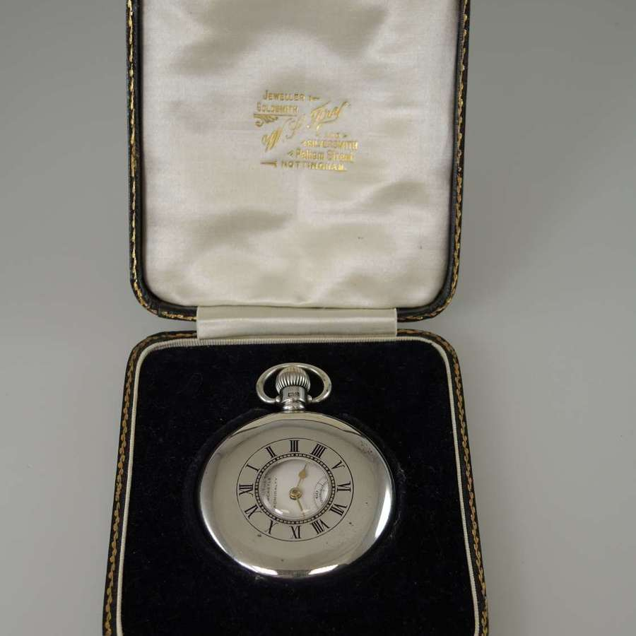 English silver half hunter made by Rolex for Northern Goldsmiths c1928