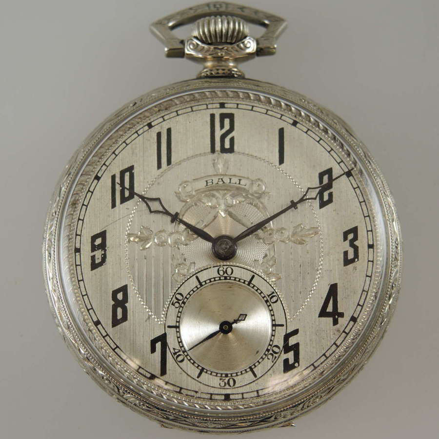 12s 19J Ball Illinois pocket watch c1926