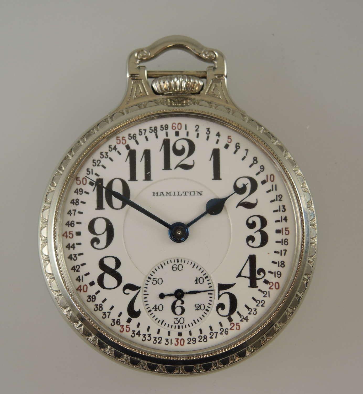 Pristine 16s 23J Hamilton 950 pocket watch c1925