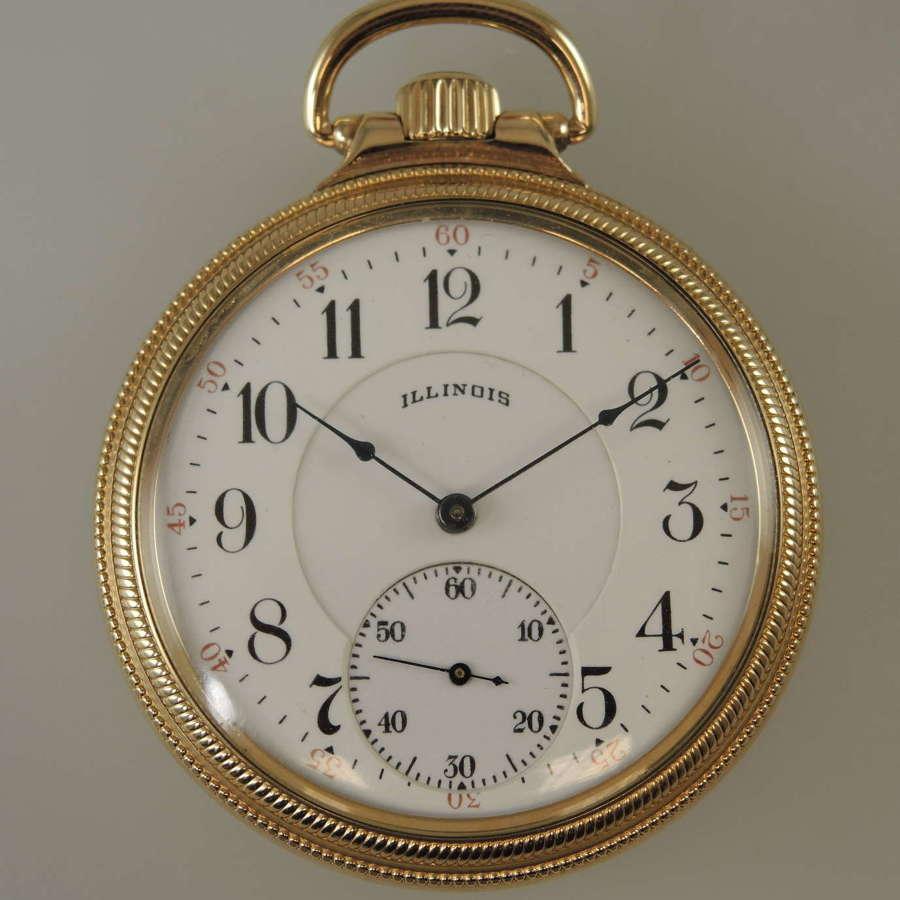 16s 21J Illinois A. Lincoln Railroad grade pocket watch c1918