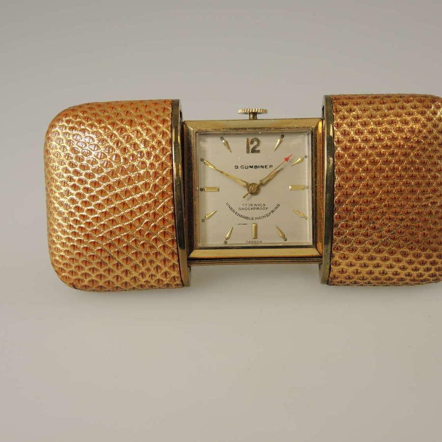 Art Deco Purse Watch. Hermetic case c1930