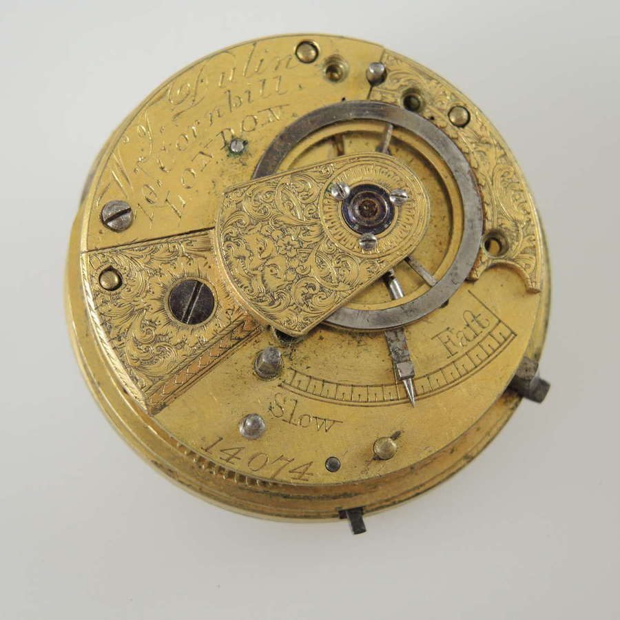 English verge movement by Dulin c1830