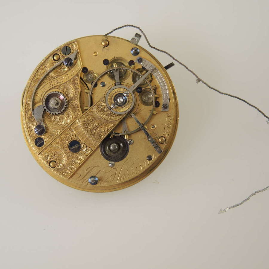 English Massey III fusee lever movement by Harrison c1850