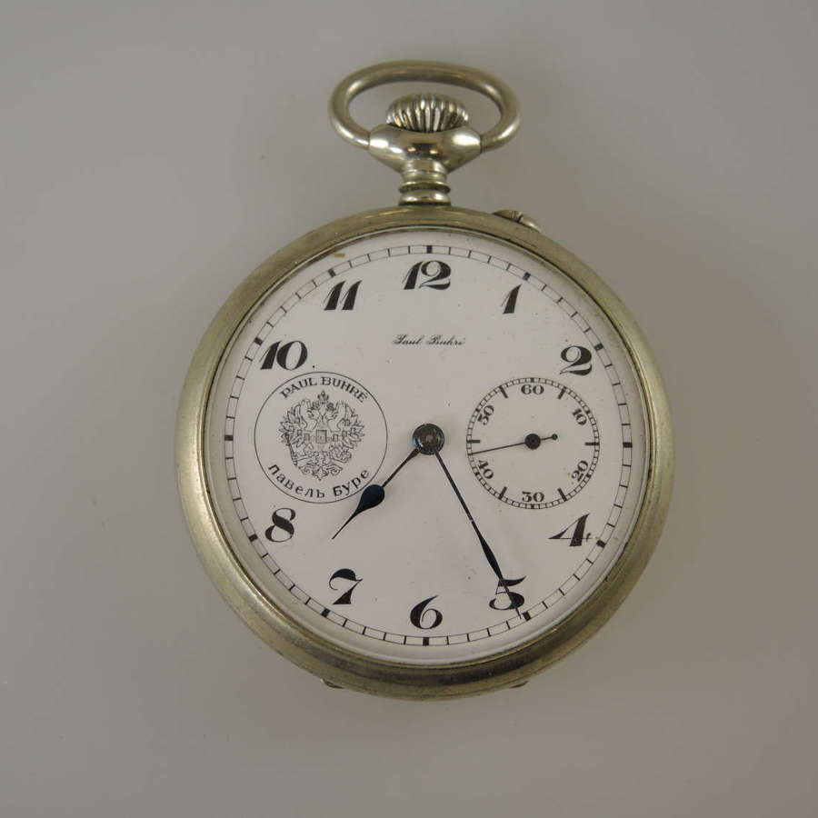 Rare Russian pocket watch by Paul Buhre c1900
