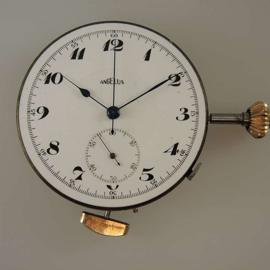 Good Swiss Repeater chronograph movement. Working with hands c1900