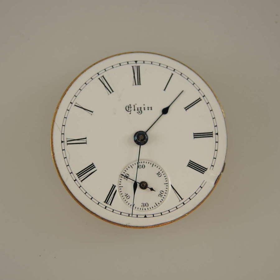 0s 7J Elgin pocket watch movement c1899