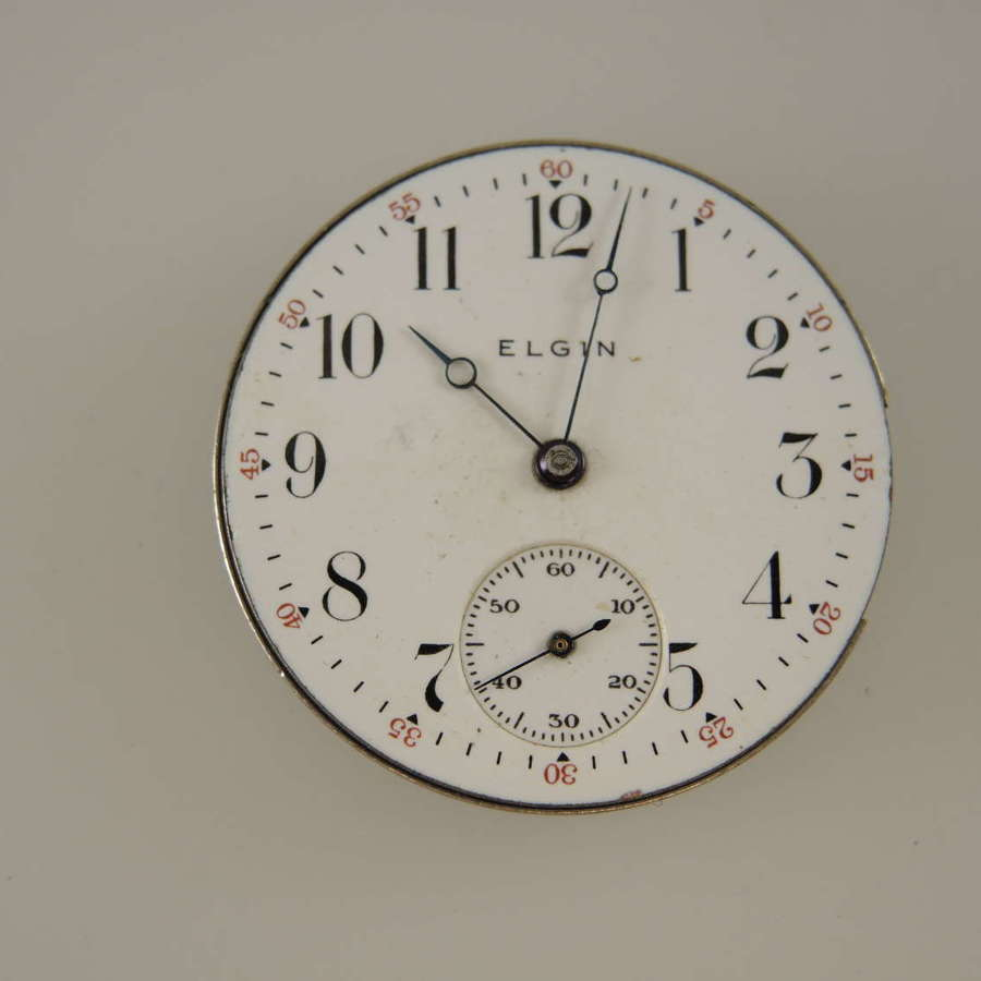 0s 15J Elgin pocket watch movement c1900