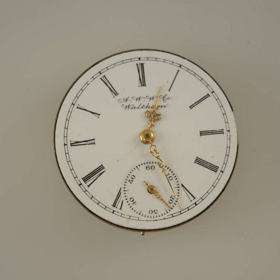 0s 7J Waltham pocket watch movement c1892