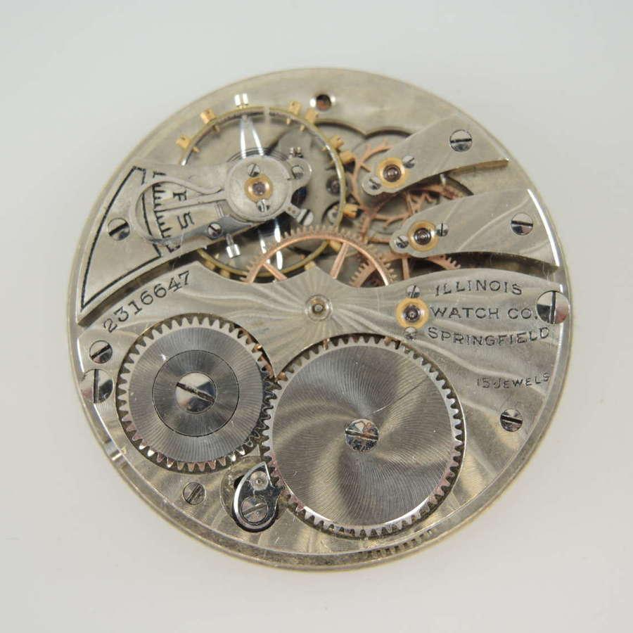 12s 15J Illinois pocket watch movement c1911
