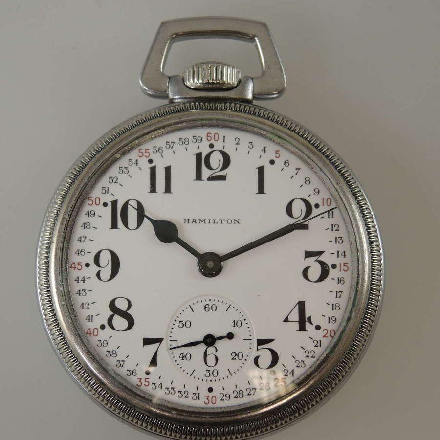 16s 21J Hamilton Military 992B pocket watch c1942