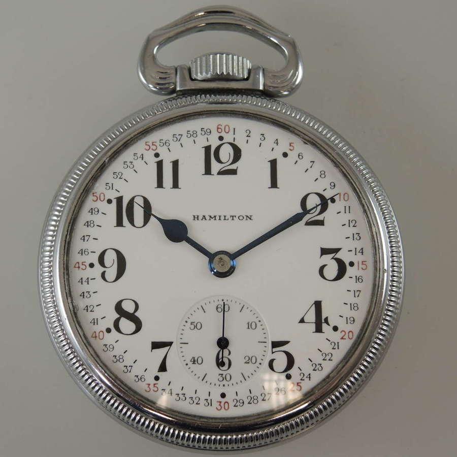 16s 21J Hamilton Military 992B pocket watch c1943