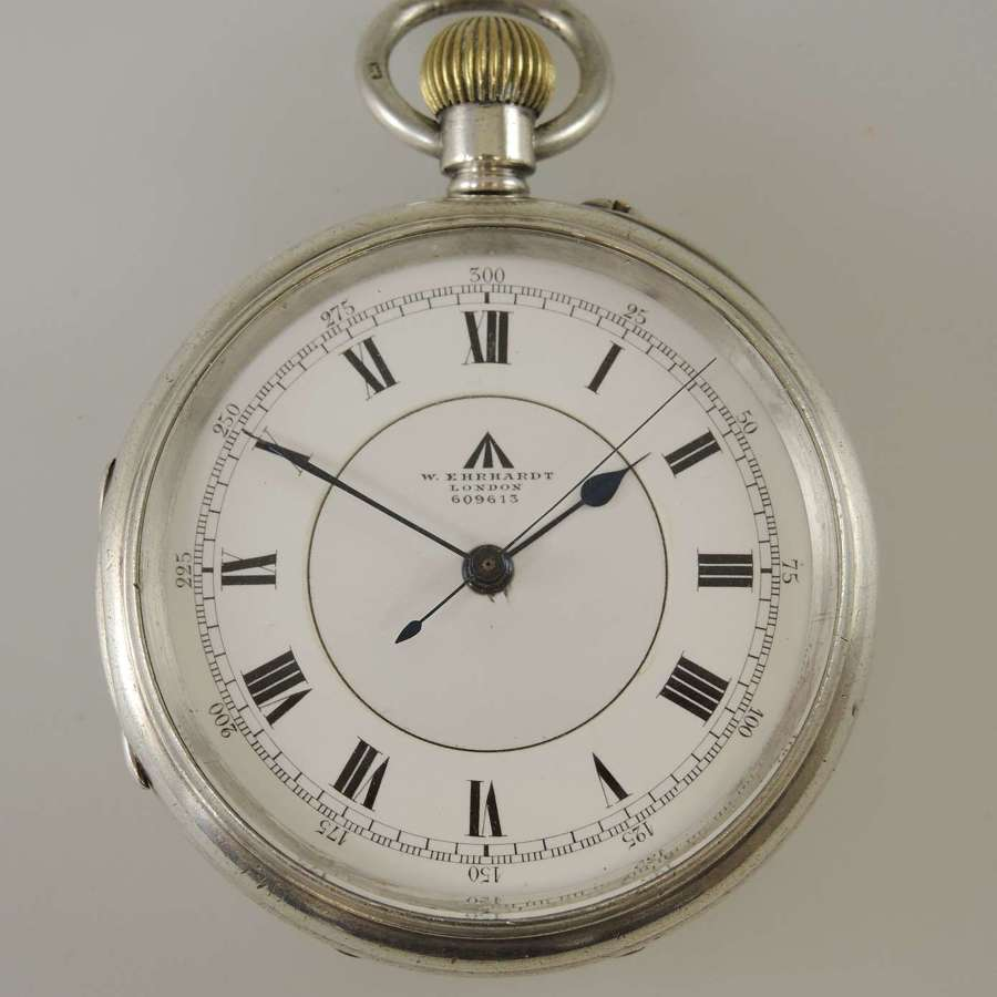 English silver Military pocket watch by W Erhardt pocket watches c1915