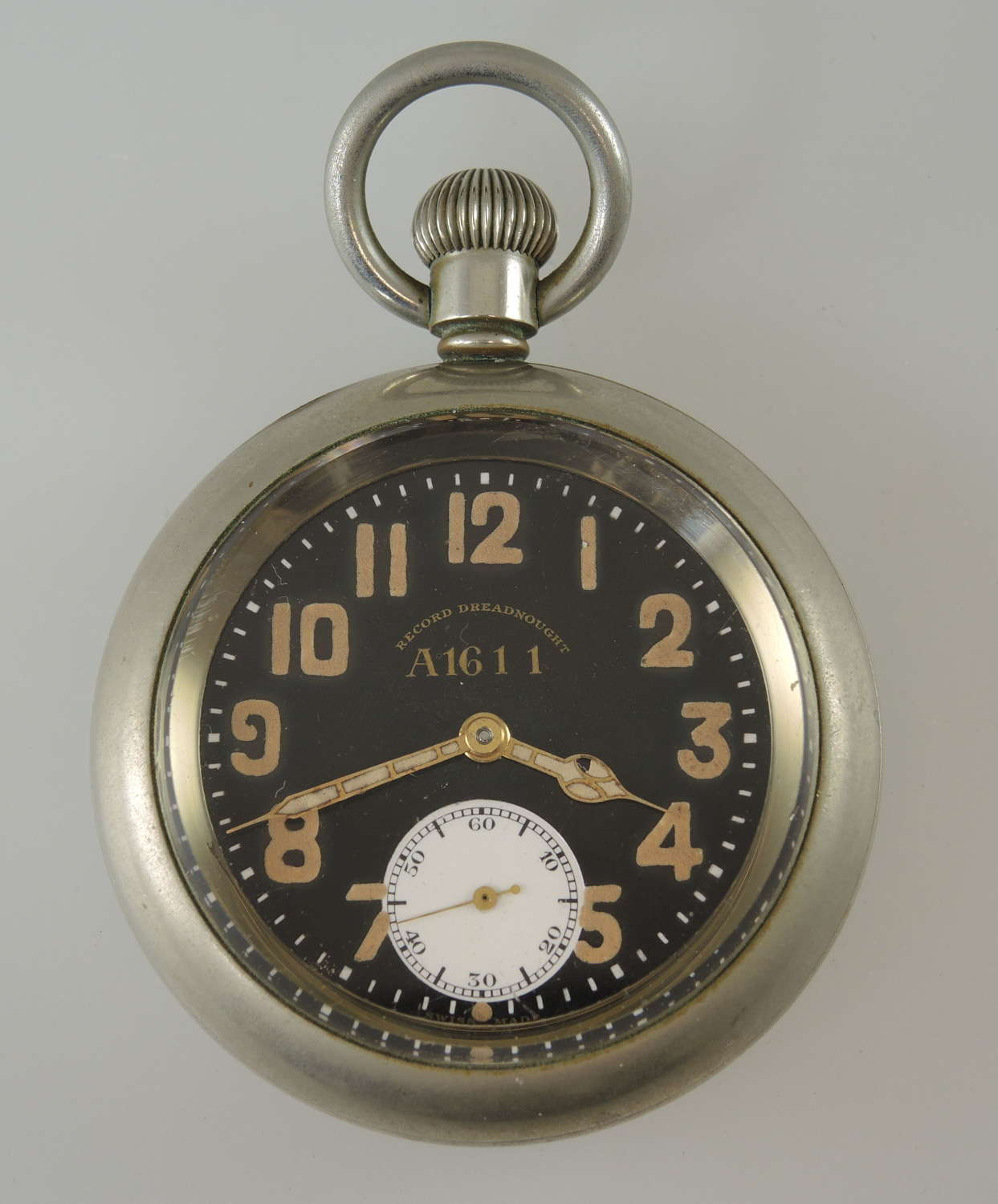 Military pocket watch. Record Dreadnought. c1940