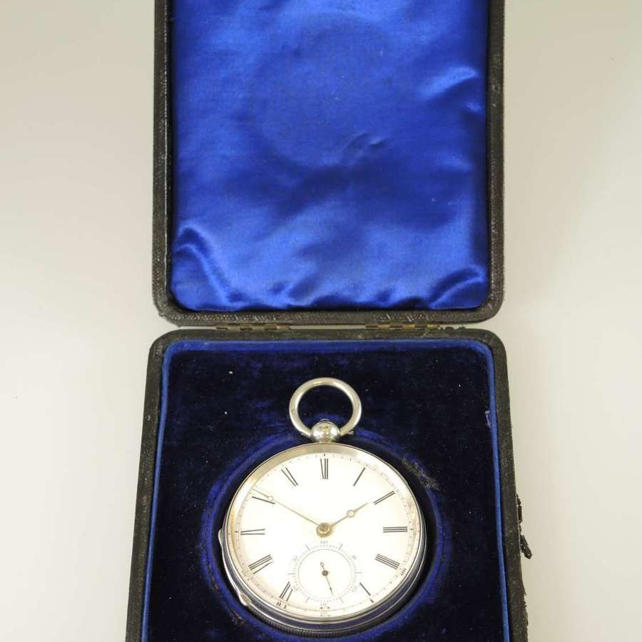 Pristine large English silver fusee by Adams, London 1892