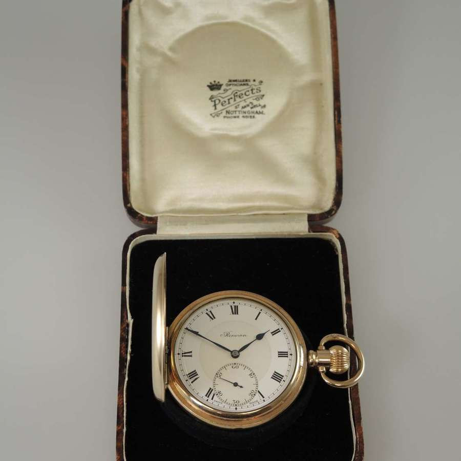 Gold plated 23 Jewel full hunter pocket watch by Renown c1920