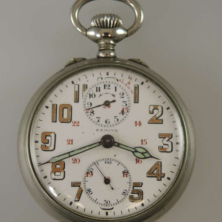 Zenith pocket watch with an alarm function c1910